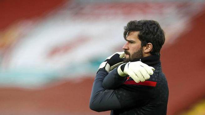 Alisson Becker, ex Roma e portiere del Liverpool (Ansa)