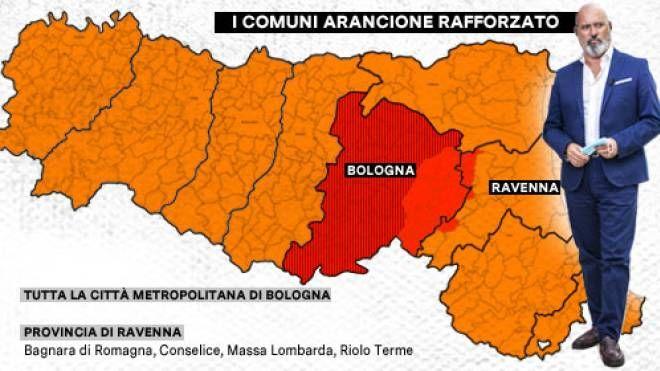 Emilia Romagna Cartina Province.Emilia Romagna Si Allarga La Zona Arancione Scuro Regione Verso La Conferma Arancione Cronaca
