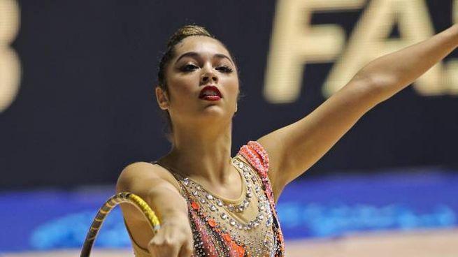 Una atleta di ginnastica ritmica (Repertorio)