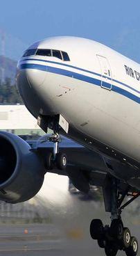 Un Boeing 777 al decollo
