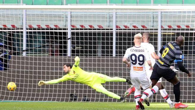 Inter, il gol di Lukaku contro il Genoa