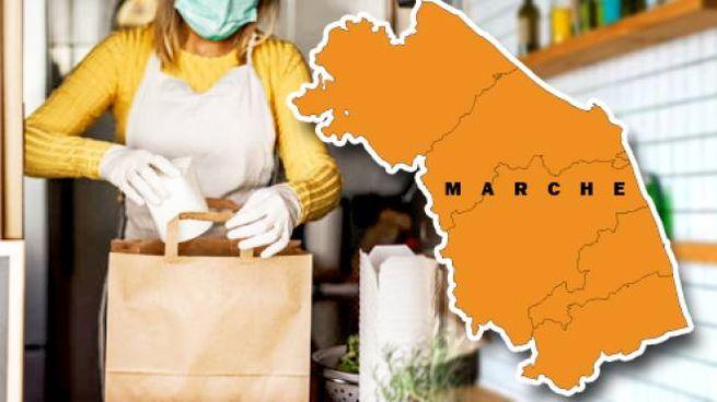 Cartina Politica Regione Marche.Colori Regioni Oggi Nelle Marche Scatta La Zona Arancione Cronaca Ilrestodelcarlino It