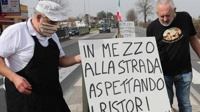 Protesta per i ristori