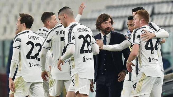 Juventus� Alvaro Morata jubilates after scoring the goal (1-0) during the italian Serie A soccer match Juventus FC vs Spezia Calcio at the Allianz stadium in Turin, Italy, 3 March 2021 ANSA/ALESSANDRO DI MARCO