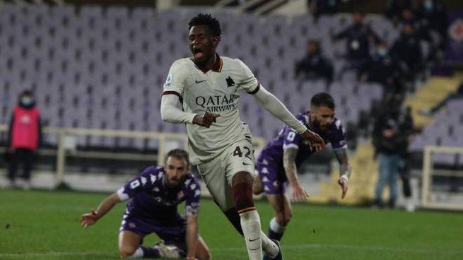 Il gol di Diawara alla Fiorentina (Ansa)