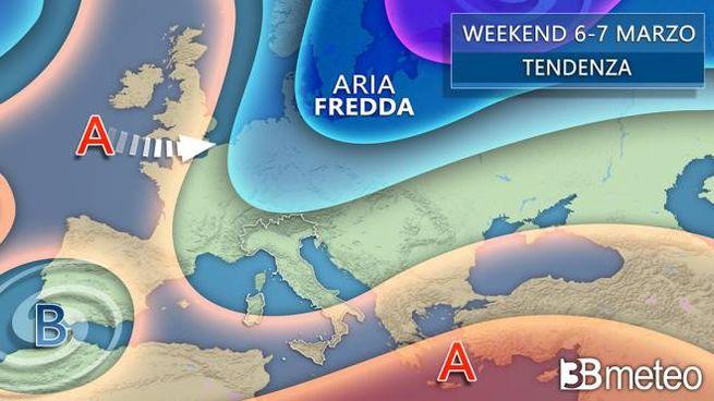 Previsioni meteo per il fine settimana