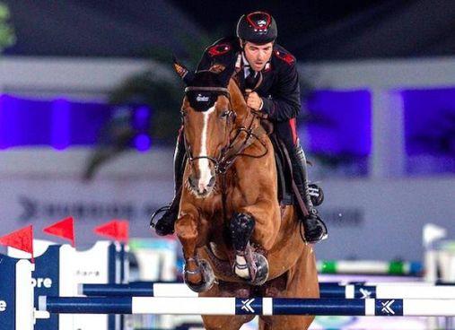 Emanuele Gaudiano impegnato nel Global Champions Tour con De Luca a Doha