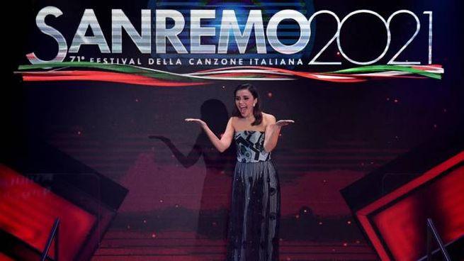Serena Rossi a Sanremo 2021 (Ansa)