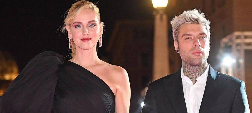 Chiara Ferragni, 33 anni, col marito Federico Lucia, in arte Fedez, 31 anni, che è arrivato secondo al festival di Sanremo