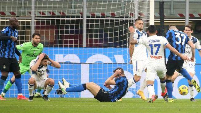 Inter-Atalanta: il gol di Skriniar (Ansa)