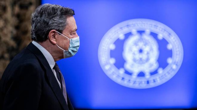 Il presidente del Consiglio, Mario Draghi (Imagoeconomica)