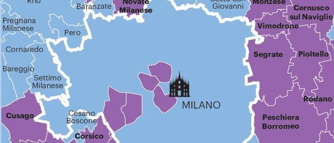 La mappa dei contagi a Milano