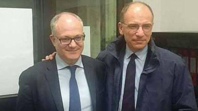 L'ex ministro Roberto Gualtieri, 54 anni, e il neo segretario del Partito democratico, Enr