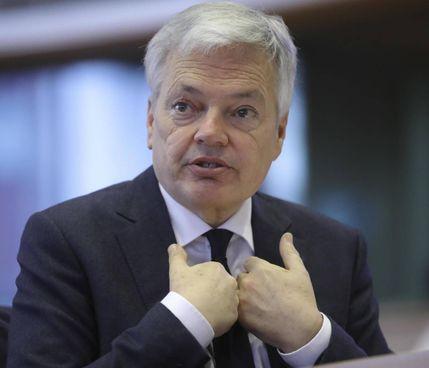 Il commissario europeo per la Giustizia, Didier Reynders, 62 anni
