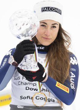 Sofia Goggia, 28 anni, campionessa olimpica 2018: questa è la seconda coppa di discesa conquistata