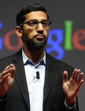 Sundar Pichai, 48 anni, è ceo di Google e della holding Alphabet