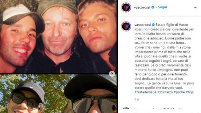 Il post di Vasco Rossi