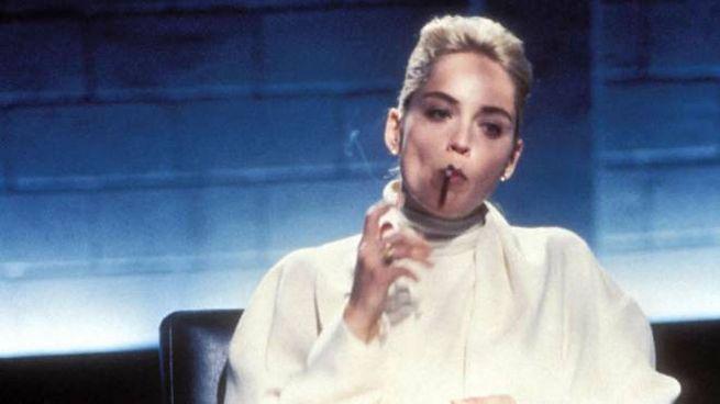 Sharon Stone, 63 anni, nella scena più famosa di 'Basic Instinct'