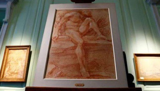 Il nudo di Gian Lorenzo Bernini disegnato a sanguigna, datato fra 1630 e 1640