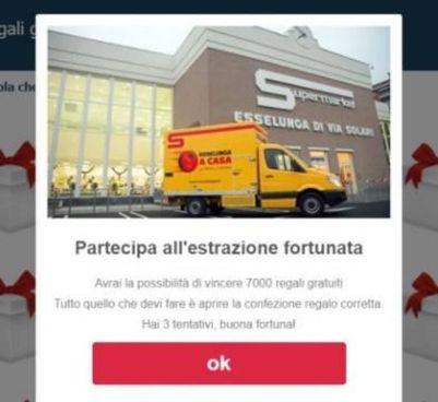Uno. dei messaggi truffaldini sul falso concorso Esselunga apparso su WhatsApp nei giorni scorsi
