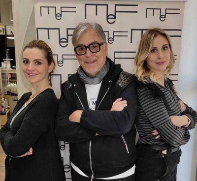 Francesca, Maurizio e Federica del salone in viale dell'Appennino