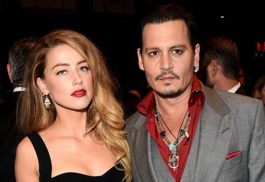 Johnny Depp (oggi 57 anni) con Amber Heard (34 anni), sposati dal 2015 al 2017