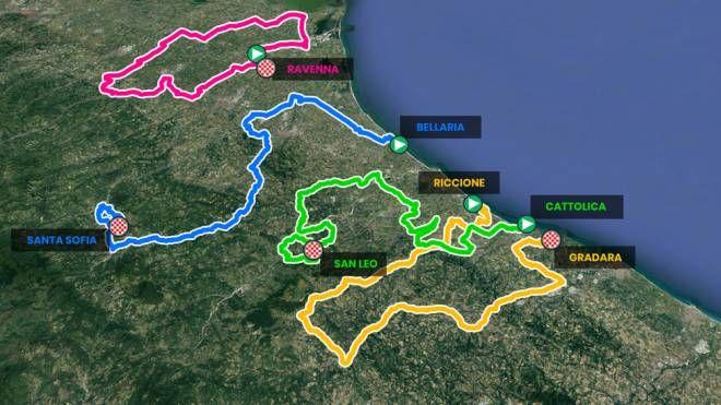 Cartina Italia Riccione.Giro Di Romagna 2021 Date Percorso E Tappe Sport Ilrestodelcarlino It