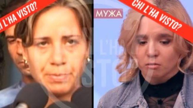 A sinistra Piera Maggio, madre di Denise. A destra la ventenne russa