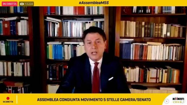 Il nuovo capo dei Cinquestelle Giuseppe Conte (Ansa)