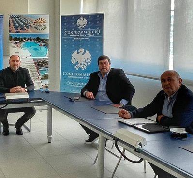 Da sinistra Daniele Gatti, Devis Alesi e Romano Montagnoli