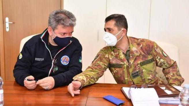 Il governatore della Calabria Spirlì insieme al commissario Figliuolo (Dire)