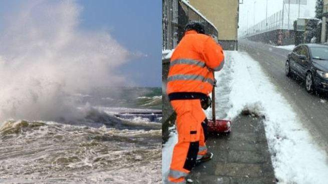 Previsioni meteo: allerta per vento forte e mareggiate. Probabili nevicate