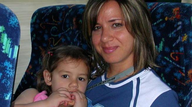 Piera Maggio con la piccola Denise