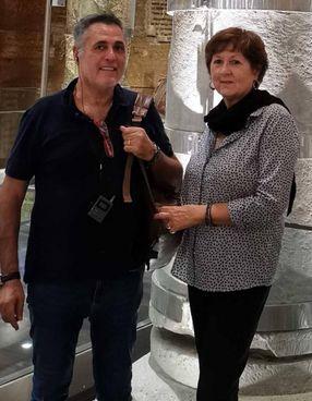 Mauro Caporalini, impiegato del Cosmari, con la moglie Sandra Bartolucci, ex dirigente dell'Asur