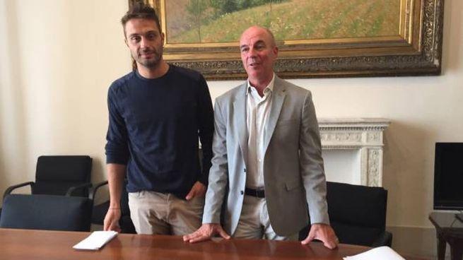 Il sindaco Salvetti e l'assessore Raspanti