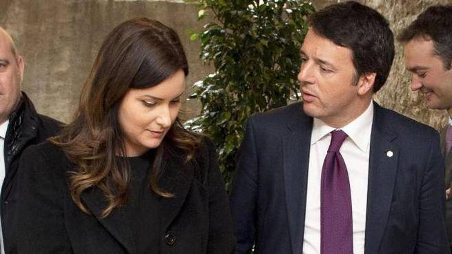 Isabella Conti, 38 anni, con Matteo Renzi, 46, in uno scatto del 2015