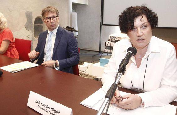 Il pm Daniele Rosa (sopra), a sinistra De Mossi. con l'architetto Biagini