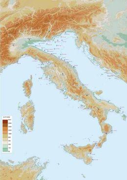 """L'ipotetica e """"fantageografica"""" Italia del 2786 nella mappa di Francesco Ferrarese"""