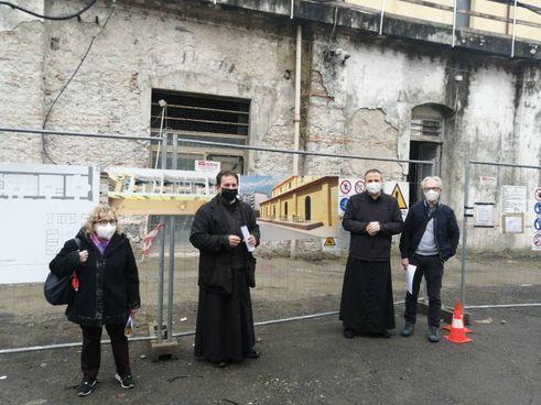 L'area di Pegazzano dove la Caritas realizzerà la «Locanda Il Samaritano» per aiutare i senzatetto