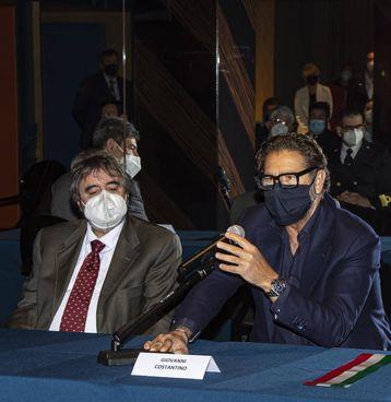 Giovanni Costantino (a destra) con Mario Sommariva