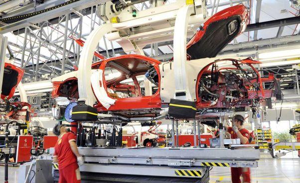 Lo stabilimento Ferrari di Maranello: fu costruito nel 1947 dal Drake,. Enzo Ferrari