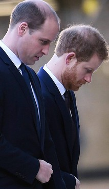 I fratelli William e Harry, 38 e 36 anni, 