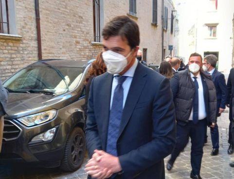 Il presidente della Regione, Francesco Acquaroli