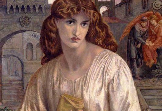 """Il """"Saluto di Beatrice"""" di. Dante Gabriel Rossetti (1882)"""