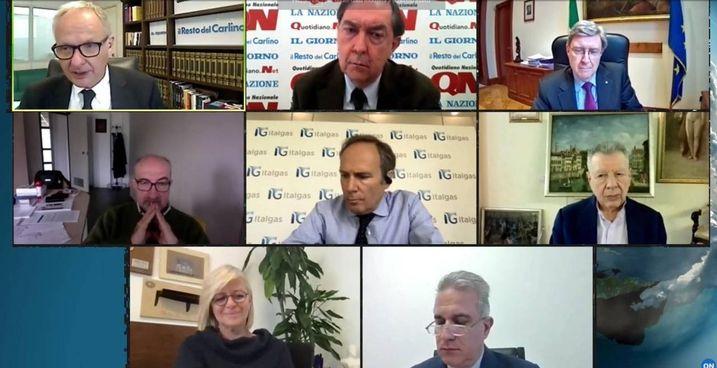 Un momento del convegno online organizzato da Gruppo Monrif e Rekeep