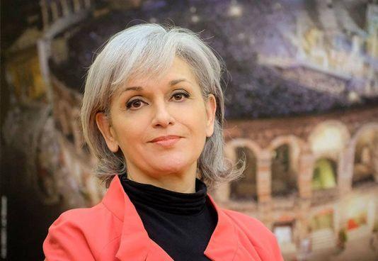Il soprano Cecilia Gasdia, 60 anni, sovrintendente dell'Arena di Verona