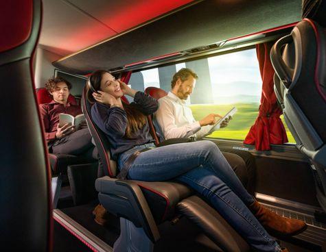 La flotta di Itabus sarà composta da autobus Man (Volkswagen). Previsti all'interno ambienti 'Comfort' con sedili spaziosi