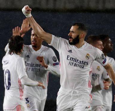Karim Benzema, 33 anni, autore del pareggio per il Real Madrid