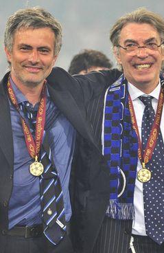 Josè Mourinho con Massimo Moratti