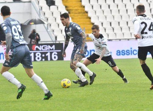 """Il Benevento, qui al """"Picco"""", è ancora nella zona 'rovente' del campionato"""